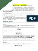 Fonctions de plusieurs variables