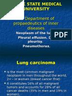 Lung Cancer, Pleural Effusion, Dry Pleurisy & Pneumothorax