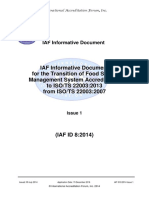 IAF ID 8 Transition to ISOTS 22003 2013