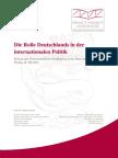 Die Rolle Deutschlands in Der Internationalen Politik