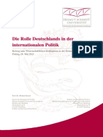 Die Rolle Deutschlands in Der Internationalen Politik