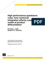 High performance quadrature rules