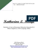 katharine hedge resume