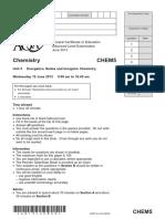 June 2013 QP - Unit 5 AQA Chemistry