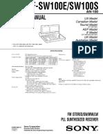 Sony Icf-sw100s Service Manual