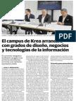 El Campus de Krea Arrancará Con Grados de Diseño, Negocios y Tecnologías de La Información El Correo, 27012016