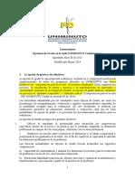 Lineamientos Opcion de Grado Para Revision Final de CI y Aprobacion en Comite Investigaciones y Proyección Social