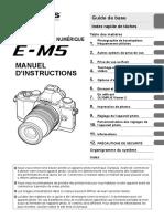 OLYMPUS OMD EM 5 Notice Manuel Guide Mode Emploi PDF