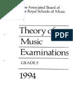 ABRSM Grade 5 1994