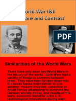 World Wars Compare and Contrast Sample