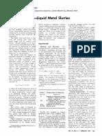 Uranium Oxide Liquid Metal Slurries