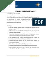 Advantage Disadvantages fuel cell hydrogen