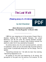 The Last Walk - An Article on Krishnamurti by Asit Chandmal
