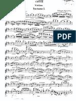 Chopin Nocturne Violin Part1