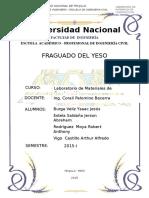 Ensayo de Fraguado Del Yeso