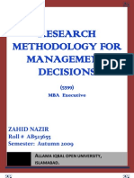 Semester III Assgn Business Research Methodology