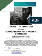 Workshop Borderline Scuola Cognitiva Firenze