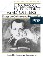 Stocking-Malinowski, Rivers, Benedict and Others_ Essays on Culture and Personality-(1986)