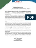 JBS ANUNCIA O FORTALECIMENTO DE SUA ESTRUTURA REGIONAL E GLOBAL