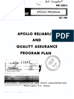(NASA NHB-5300.1A) Apollo Reliability and Quality Assurance Program Plan (1966)