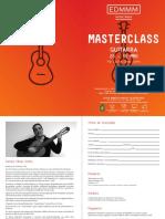 Ficha Inscrição Masterclass de Guitarra