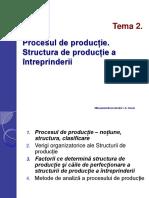 Procesul de Producţie. Structura de Producţie a Întreprinderii (1)