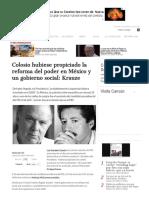 Colosio Hubiese Propiciado La Reforma Del Poder en México y Un Gobierno Social_ Krauze - Aristegui Noticias