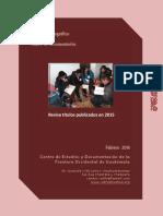 Boletin Publicaciones 2015