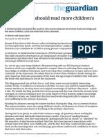 Why Teachers Should Read More Children's Books _ Teacher Network _ the Guardian