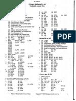Singapore Math 4A - Textbook - Answer Key