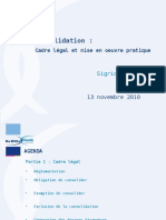 20101113-Consolidation - Présentation PowerPoint