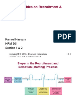 Additional Slides for Recruitment and Selection