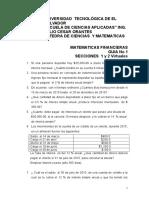 Guia No 1 de Matematica Financiera