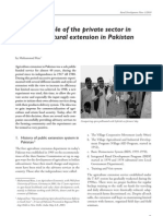 The Role of the Private Sector in Agriculture Extension in Pakistan