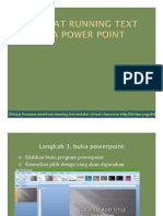 Membuat Running Text Pada Power Point
