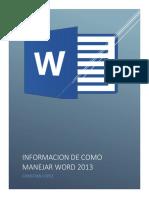 Manejo Básico en Word 2013.Docx