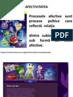 AFECTIVITATEA- Psihologie Clasa 10_2016