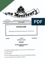 Décret centre financier La Gonave  7 Jan 2016