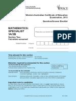 Maths Specialist 3A3B Calc Assu Exam 2013