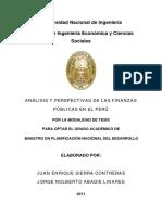 Analisis y Perspectivas de Las Finanzas Publicas en El Peru (1)