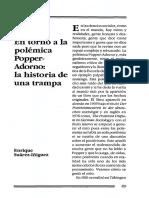 En Torno a La Polémica Popper-Adorno