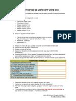 Examen Práctico de Microsoft Word 2010