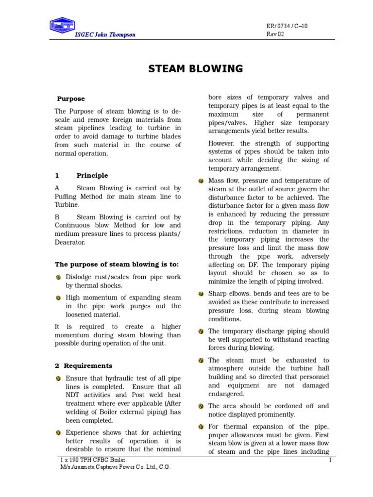 Steamblowing Final   Steam   Boiler