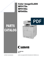 Canon MF9100 8450c Parts Catalog