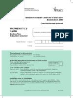 Mathematics Stage 2A 2B Calc Assumed Exam 2013