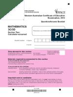 Mathematics Stage 3C 3D Calc Assumed Exam 2013