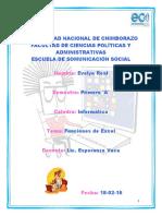 Consulta de Funciones - Excel