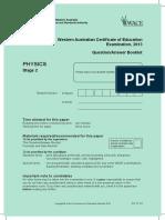 Physics Stage 2 Exam 2013
