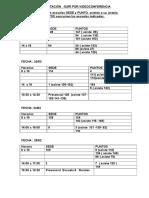 Calendario Capacitación Gurí 2016