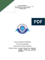 B.tech Aerospace Scheme With LTPC